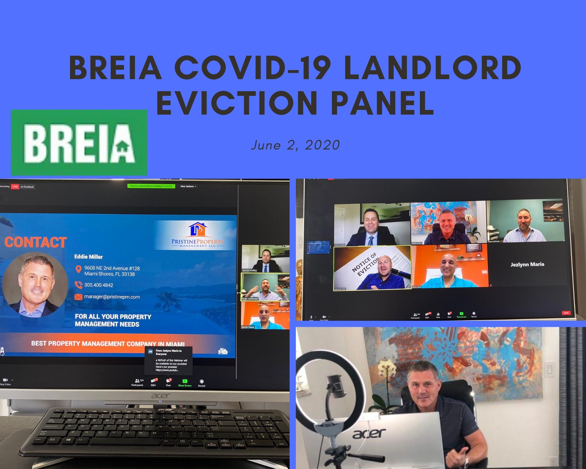 BREIA COVID-19 LANDLORD EVICTION WEBINAR: JUNE 2ND, 2020